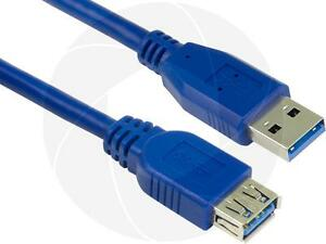 5Meters 16FT USB 3.0 Extension Blue Cable Type A Male to Type A Female Sync Data