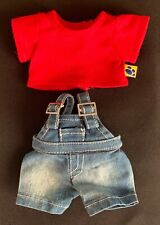 Build-A-Bear Smallfry Red Top and Dungarees **EXCELLENT CONDITION**