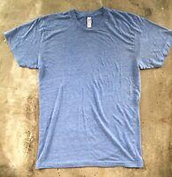 American Apparel T-shirt / The Track Shirt 25 25 50 / Blau meliert / M