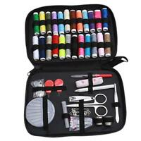 Sewing kit Set Needle Thread Tape Measure Scissor Thimble Sewing Storage Box FM