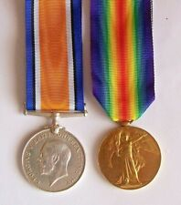 ORIGINAL 1st W.W.  WAR & VICTORY MEDALS  VERY NEATLY ERASED