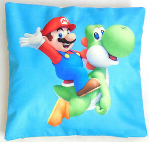 Super Mario Cushion Cover Riding Yoshi pillow lounge bedroom 45cm