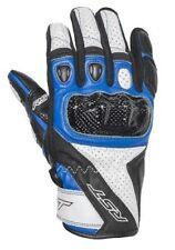 Gants bleus RST en cuir pour motocyclette