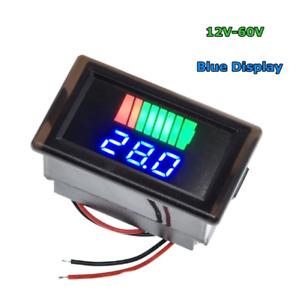 Car Battery Charge Level Indicator 12V-60V Lithium Battery Capacity Meter Tester