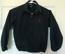 Ralph Lauren Polo Kids Twill Jacket Size 6 Navy Blue Zipper