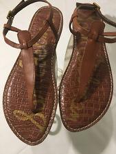 Sam Edelman Summer Thong Sandals Brown Leather Gigi Slingbacks Women's 10 M