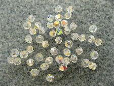 48 Clear Crystal AB Swarovski Beads Bicone 5328 2.5mm