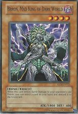 YU-GI-OH CARD: BRRON, MAD KING OF DARK WORLD - RARE - EEN-EN022