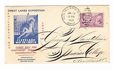 GREAT LAKES EXPOSITION, CLEVELAND, OHIO, 1937, PHILATELIC DAY COVER,  amc b64
