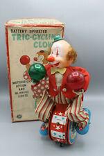 modern toys Japan - automate tric-cycling clown, années 50 top état + boite