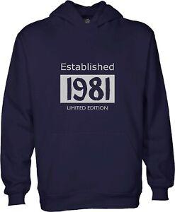 Birth year Hooded Sweatshirt, Hoodie, Established, Limited Edition
