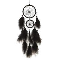 Black Feater Handmade Dream Catcher Car Wall hanging Crafts Gift #B