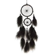 Black Feater Handmade Dream Catcher Car Wall hanging Crafts Gift #B