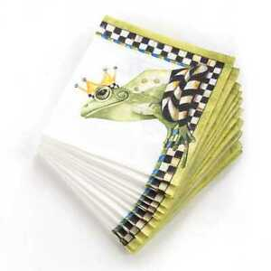 MacKenzie-Childs Frog Paper Napkins - Cocktail (20 per Pack) NEW