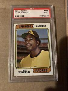 1974 topps dave winfield psa 7