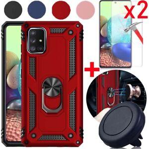 Samsung Galaxy A51,A71,A52,A72,A21,A11,A01 Case Cover+Screen Protector/Car Mount