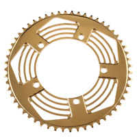 Custom 56T Chainring + Chainguard For BROMPTON Glossy Gold