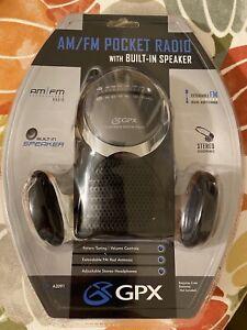 GPX A2091 AM/FM Pocket Radio Built-In Speaker Headphones New Old vintage Stock