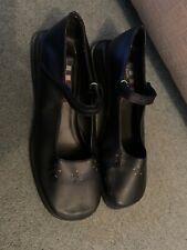 Ladies Black Mary Jane Wedge Shoes Size 5 Girl Zone