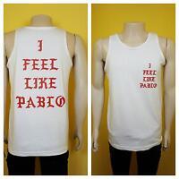 I Feel Like Pablo White Tank Top Logo  Yeezy Kanye West Real Life Yeezus Famous