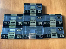 Lot of 7 MAXELL XLII-S 100 Minutes Type II High Bias CASSETTE TAPE NEW xl ii-s