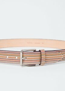 Paul Smith Men's Belt - BNWT Signature Multi Stripe Belt RRP:£125.00