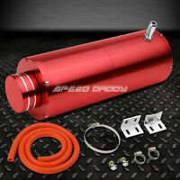 """8.5""""X3"""" 3/8"""" HOSE ALUMINUM COOLANT RECOVERY OVERFLOW RESERVOIR TANK/CAN RED"""