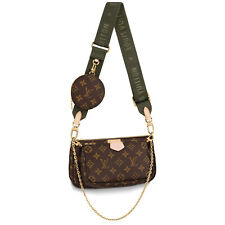 Louis Vuitton MULTI POCHETTE Khaki Green Strap Crossbody Bag