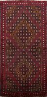 Tribal Geometric Hand-knotted Area Rug Wool Traditional Oriental Carpet 4x7 New
