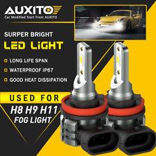 2X Auxito H11 H16 H8 Led Fog Driving Light 6000K Super Bright Bulb Drl White L3A (Fits: Honda)