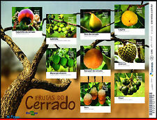 16-18-4 BRAZIL 2016 FRUITS OF CERRADO, PLANTS, MINI SHEET MNH