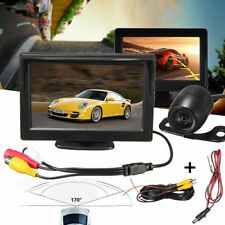 5'' LCD Monitor Car Rear View Reverse Parking Back Up Camera Wired Night Vision