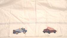 POTTERY BARN KIDS Cars And Trucks Applique Bedskirt Cribskirt NWT
