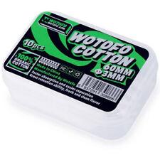 Wotofo Agleted 30 X Baumwollstreifen 3mm Selbstwickler RDA RTA 100 organisch
