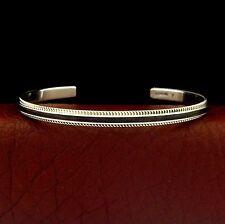 Native American Handmade Sterling Silver Cuff Bracelet ---- B51 T