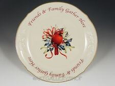 "Lenox Winter Greetings Christmas Friends &Family Gather Here 12"" DESSERT PLATTER"