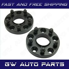 2 Black 15mm HUBCENTRIC WHEEL SPACER 5X4.5 CB 66.1mm Fit INFINITI NISSAN