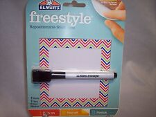 """ELMER'S Freestyle Repositionable Dry Erase Board & Marker  Pink 4"""" x 4"""""""