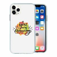 For Apple iPhone 11 PRO MAX Silicone Case Uplifting Quote Saying - S382
