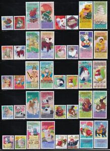 Japan 2000-09 new year stamps complete MNH