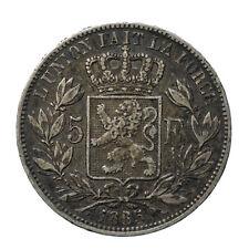 5 francs 1865/55 Leopold I Belgium  Rare