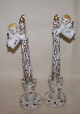 Tilso Japan Angel Candle Climbers With Candle Holders Faux Candles W/Box
