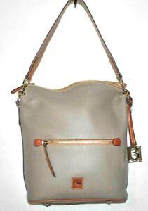 Dooney & Bourke Pebble Grain Large Sac Shoulder Bag Color Gray - $278