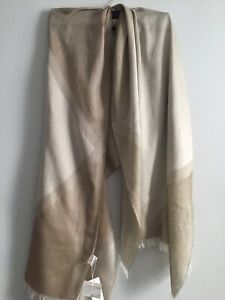 NWT Eileen Fisher HAZEL  Modal/Cotton Diamond Sparkle Fringed  Wrap Scarf 32x76