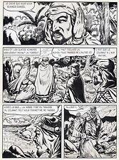 BOB LEGUAY  VOYAGE PALPITANT PLANCHE ORIGINALE TIM L'AUDACE ANNEES 1950 PAGE 25