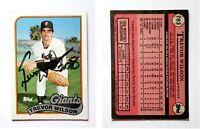 Trevor Wilson Signed 1989 Topps #783 Card San Francisco Giants Auto Autograph