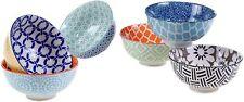 Colorful Contemporary Bowl Set of 6 Chelsea Pasta Soup Ceral Bowls Noodles New