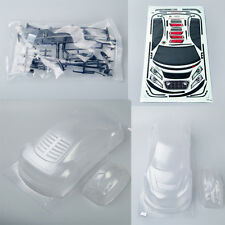PC Clear Transparent 195mm RC On-Road DRIFT Car Body for 1/10 AUDI R8  PC201218
