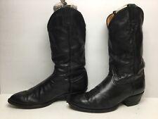 VTG MENS TONY LAMA COWBOY BLACK BOOTS SIZE 9.5 EE