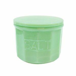 TableCraft Jadeite Green Glass Salt Cellar / Box